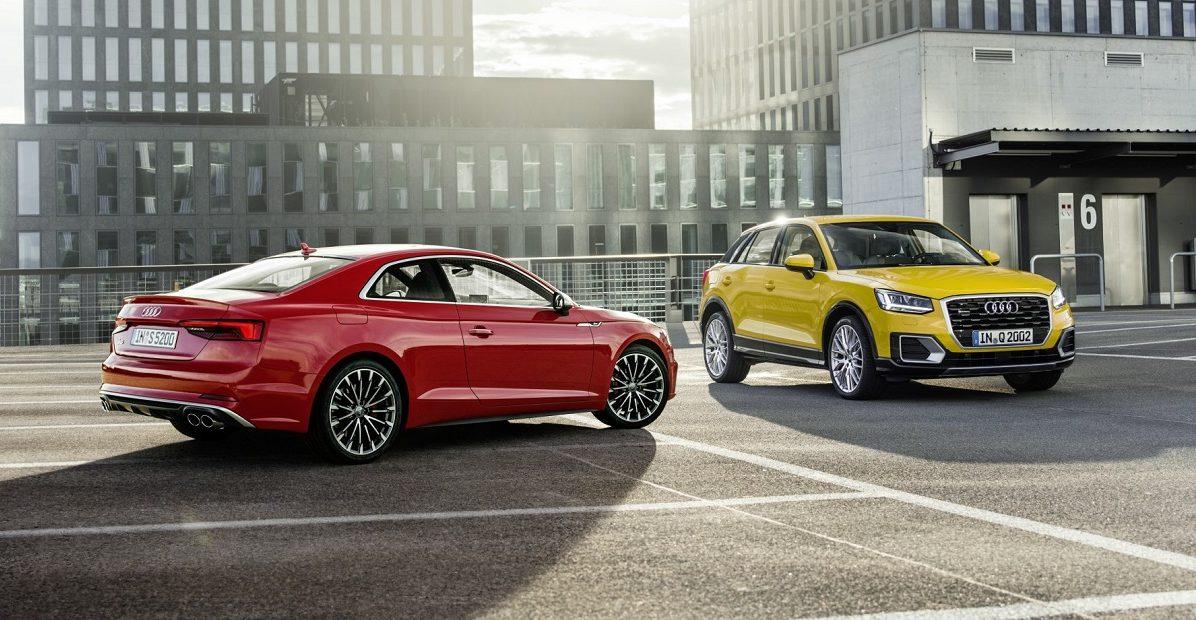 صورة جائزة المقود الذهبي لسيارتي أودي Q2 و أودي A5 كوبيه