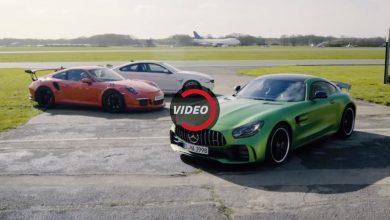 مقارنة بين بورشه 911GTS ومرسيدس GT R وبي ام دبليو M4 GTS
