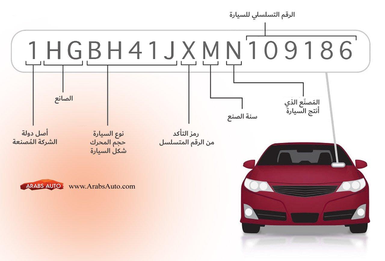كيف تعرف الرقم التسلسلي للسيارة