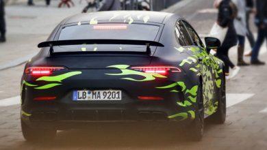 صورة التحضيرات النهائية لمرسيدس AMG GT ذات الأبواب الأربعة قبل معرض جنيف 2018