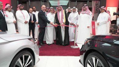 صورة افتتاح أول صالة عرض نيسان في مكة المكرمة
