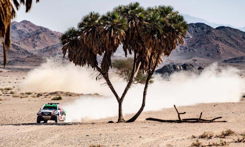 صورة رالي العلا نيوم الصحراوي، الراجحي الأسرع والقاسمي ينسحب