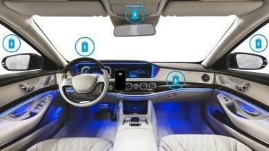 صورة تقنية تُتيح شحن الهواتف لاسلكيًا في أي مكانٍ داخل السيارة