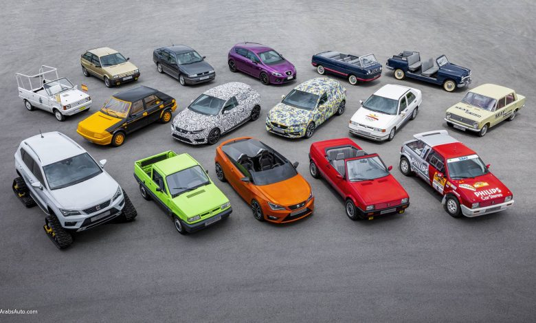 صورة سيارات سيات الأكثر تميّزًا، إحداها تحمل اسم شاكيرا وأخرى هديّة للملك!